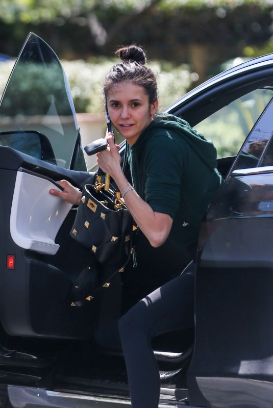 Nina Dobrev Spotted after hitting the gym in Los Angeles