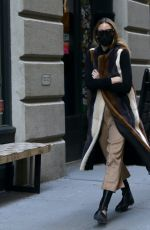 Olivia Palermo Pictured braving the cold weather to run errands in Dumbo, Brooklyn