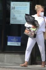 Pamela Anderson Is pictured grocery shopping and delivering lunch to her husband Dan Hayhurst