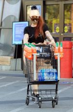 Phoebe Price Out for grocery shopping in Los Angeles