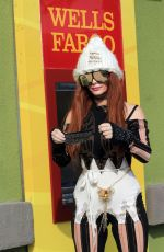 Phoebe Price Seen at the tennis courts and Wells Fargo ATM