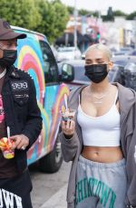 Pia Mia Spotted getting ice cream and shopping on melrose in West Hollywood