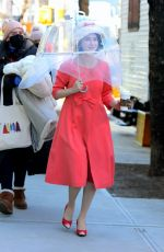 Rachel Brosnahan On the set of