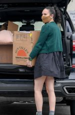 Rumer Willis Donates at Goodwill before shopping at Healthy Spot with her dog in Los Angeles