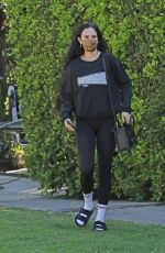 Rumer Willis Dons her usual gym attire while exiting a private gym in Los Angeles