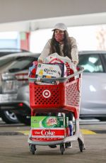 Sara Sampaio Loads up on groceries at a Target store in West Hollywood