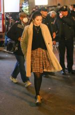 """Selena Gomez Films a night scene for her upcoming project """"Only Murders In The Building"""" In New York"""