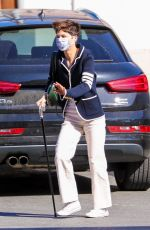 Selma Blair Stops by a gas station while out for her daily coffee run in Los Angeles