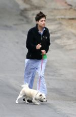 Selma Blair Walking her dog at Beverly Hills Park