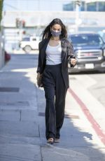 Shanina Shaik Is pictured arriving at a meeting in West Hollywood