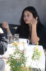 Shanina Shaik Is seen eating at crossroads kitchen in Los Angeles