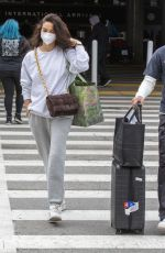 Shanina Shaik Was spotted touching down at LAX on Wednesday, after flying to Dubai for work