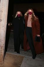 Sofia Richie Holds hands with her mother Diane Alexander while out for dinner together at Craig