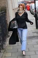 Stacey Dooley Looks sensational in silk scarf and designer top as she beds out to TV studios