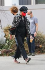 Susan Sarandon Seen taking a stroll through the city today to grab a coffee in New York