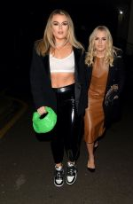 Tallia Storm and sister tessie Hartmann leave recording studio in west london