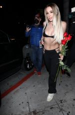 Tana Mongeau At Night out in Los Angeles
