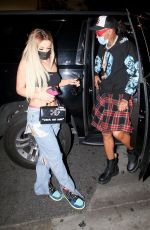 Tana Mongeau Grabs dinner at BOA steakhouse in West Hollywood