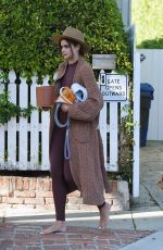 Taylor Hill Outside her home in Los Angeles