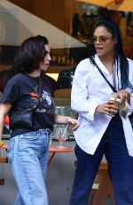 Tessa Thompson Having lunch and shopping in Sydney