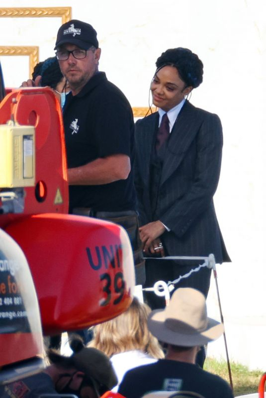 Tessa Thompson On the set of Thor Love and Thunder in Sydney