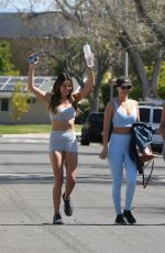 Victoria Justice Heading to a Workout with Madison in LA