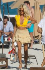 Victoria Silvstedt Takes a break and enjoys the beach in Miami, Florida