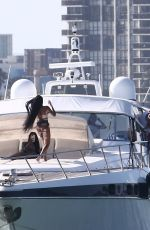 Winnie Harlow Has a boat day with friends in Miami