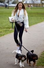 Zara McDermott Spotted with her two gorgeous puppies Toto and Koji