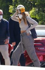 Addison Rae Keeps a low profile as she arrives at an office building in Los Angeles