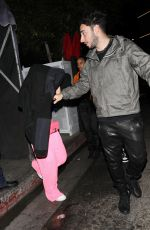 Addison Rae Leaves With Zack Bia After Recently Breaking Up With Bryce Hall at a private party at The Nice Guy