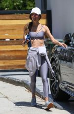 Alessandra Ambrosio Showcases her incredible abs after a workout session in Beverly Hills