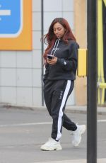 Alexandra Burke Spotted checks out apartments in trendy Nine Elms, London