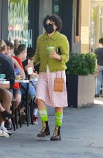 Alia Shawkat Steps out for coffee showing off her unique sense of fashion