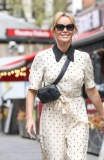 Amanda Holden Seen leaving Global Radio in Leicester Square, Central London