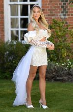 Amber Turner At The Only Way is Essex TV Show filming, Bridgerton Special in Essex