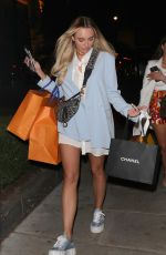 Amber Turner Rounds off a day shopping in mayfair with an alfresco dinner with friends at Nobu Portman Square