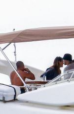 Amelia Gray Hamlin Enjoy her afternoon aboard a boat with friends in Miami Beach