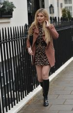 Amy Hart Seen heading to a business meeting in London