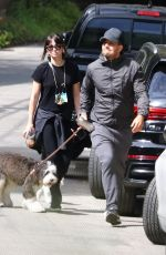Ana De Armas Out with her dog in Los Angeles
