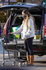 April Love Geary keeps casual as she goes shopping at Vintage Grocers in Malibu