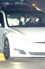 Ariana Grande Keeps a low profile while on a dinner date with fiance Dalton Gomez