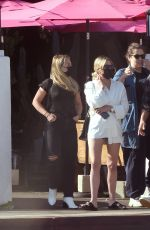 Ashley Benson Grabs dinner with friends at Pink Taco Mexican Restaurant in Los Angeles