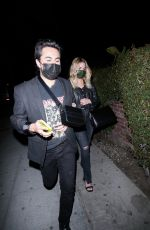 Ashley Benson Leaves a night out at Delilah with a friend in West Hollywood