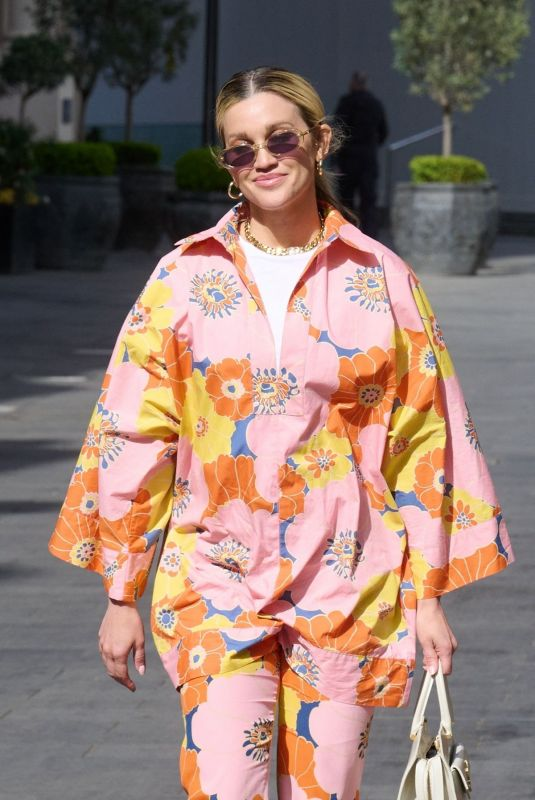 Ashley Roberts Arrives at Heart Radio in London