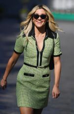 Ashley Roberts Leaving the Global Studios Heart Radio in London