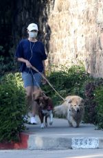 Aubrey Plaza Takes her dogs for an Afternoon Walk