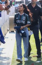 Becky G At a soccer game in Miami