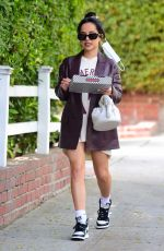 Becky G Gets a pizza in West Hollywood