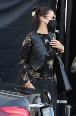 Bella Hadid Looks effortlessly stylish as she leaves her hotel in Milan